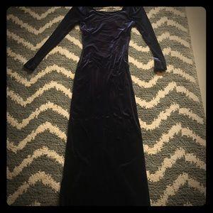 Maxi velvet dress!